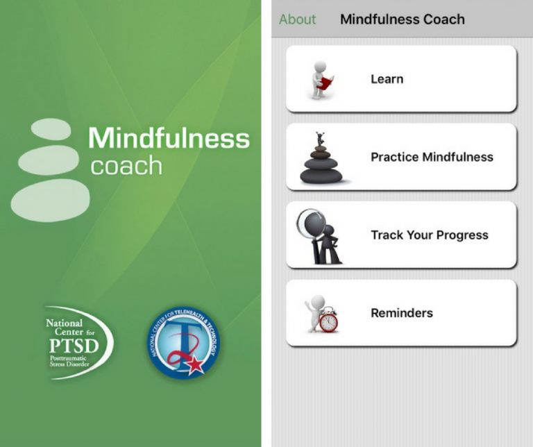 Screenshots of the Mindfulness Coach application
