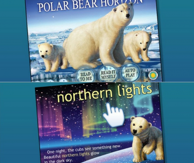Screenshots of the Polar Bear Horizon application