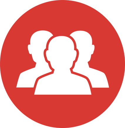 Red people icon signifying I.T. Workforce: Recruiting and fostering federal IT talent
